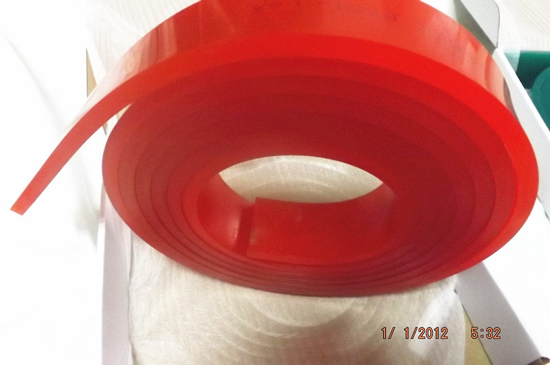 Free Shipping ! Red 50mm*9mm*4000mm!!! Screen Printing Flat Squeegee Rubber Blade_65A Durometer