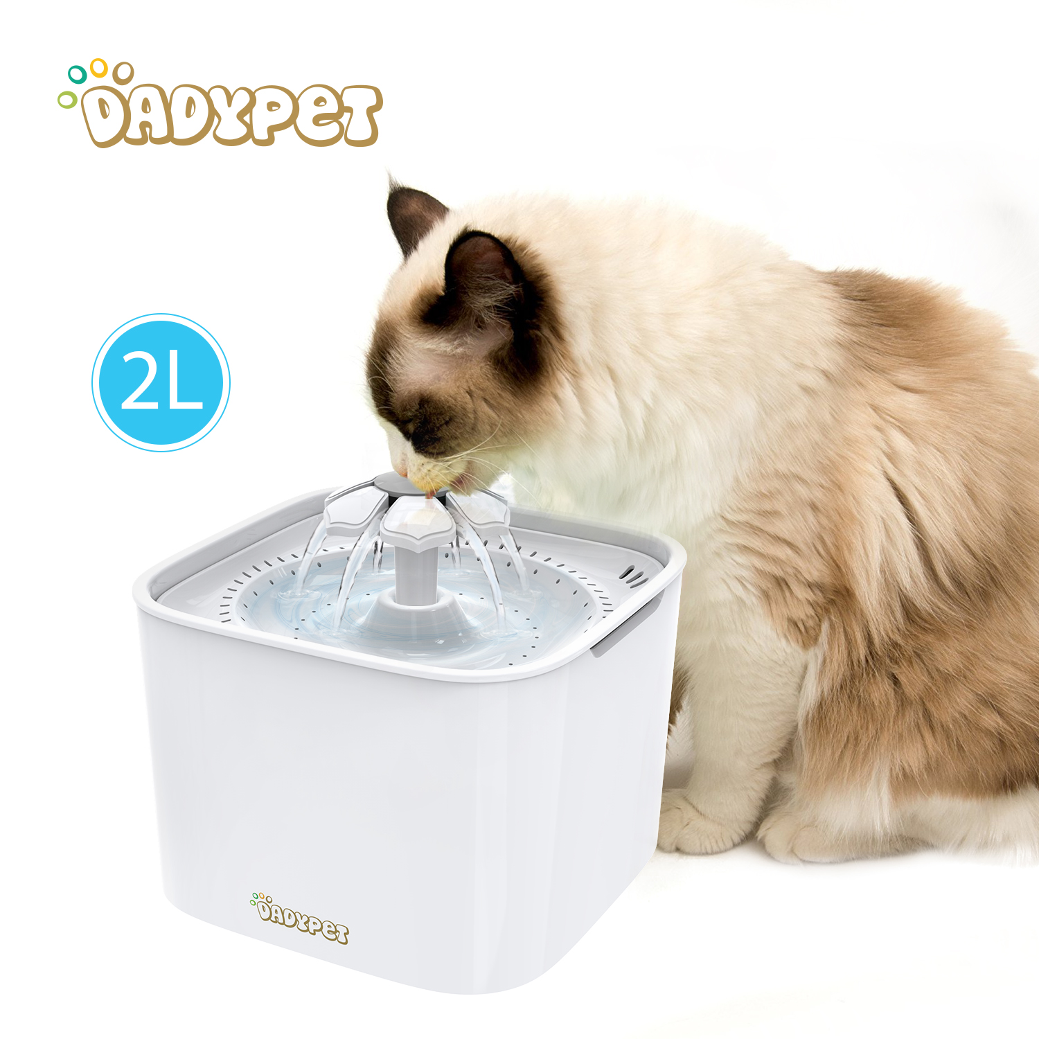 Pet Dog Automatic Feeders Water Fountain Electric Water Bowl With Filter 2l Large Capacity 2w Pump For Cat Dog Water Bowl