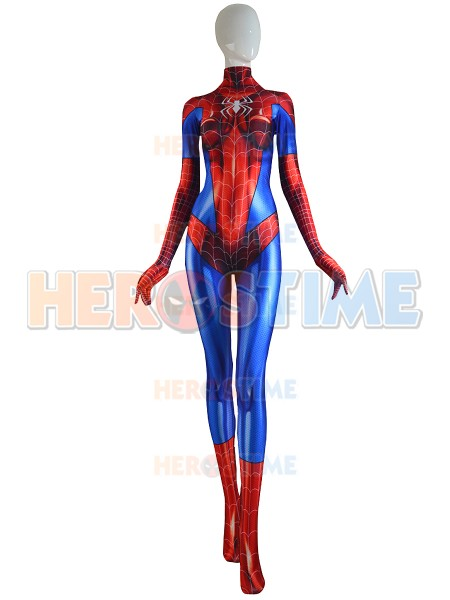 High Quality 3D Print MJ Jamie Spider Costume Mary Jane Girl Female Spider man Cosplay Suit