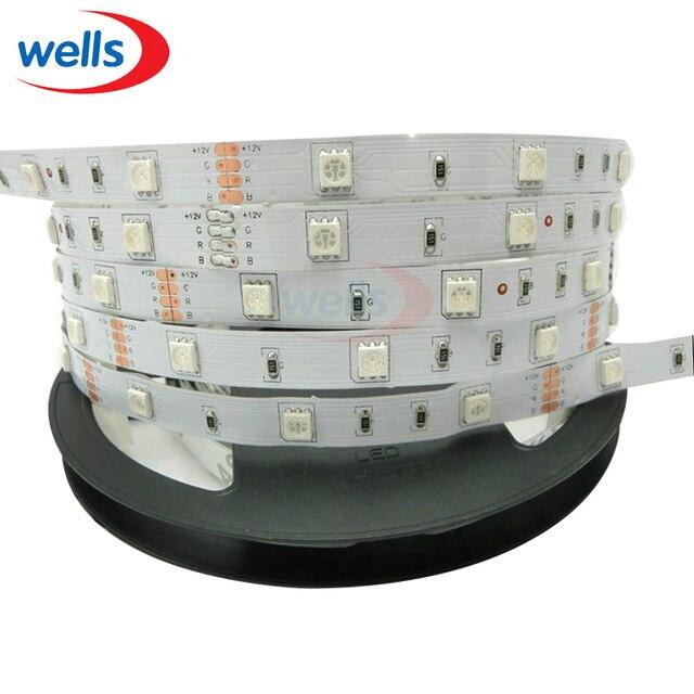 LED Strip 5050 30LED/m 5m 150LEDs 12V flexible light Warm White,White,Red,Blue, Green,RGB Color,5m/lot