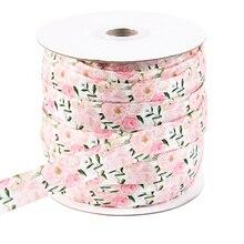 """David accessories 5/""""(16 мм) в форме короны эластичный с цветочным принтом высокого качества, 5 метров, материалы для ручных поделок, Свадебная подарочная упаковка, 5Yc765"""