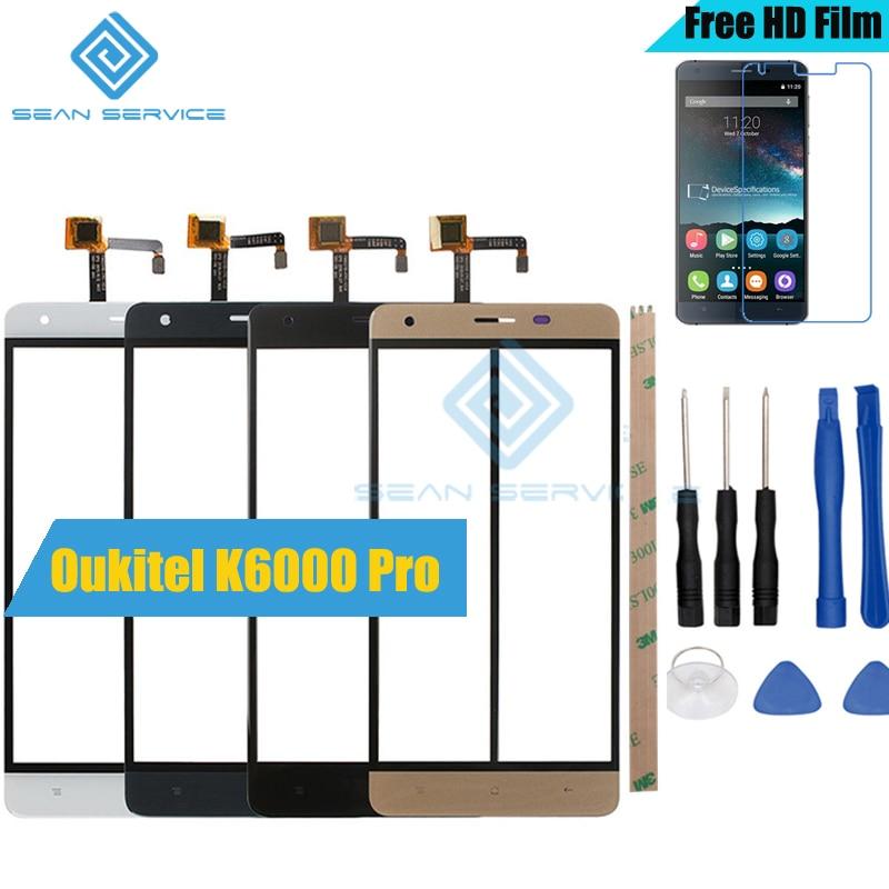 Für Oukitel K6000 Pro TP Touch Screen Panel Perfekte Ersatzteile + Werkzeuge K6000 Pro Glas Mit Digitizer Sensor Ersatz
