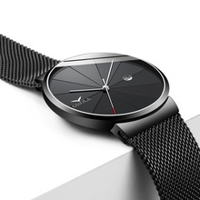 Top Brand Luxury Men Watch Fashion Casual Stainless Steel Slim Mesh Wristwatch Male Quartz Watches Clock delevan luxury watch men brand men s watches ultra thin stainless steel mesh band quartz wristwatch fashion casual watch 1128