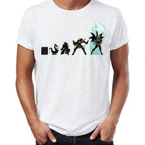 Image 5 - גברים של T חולצה Saint Seiya האבולוציה Ikki שון Shiryu Hyoga אנימה יצירות אמנות מדהים טי