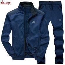 UNCO y BOROR nueva moda Primavera otoño hombres ropa deportiva conjunto de 2 piezas chaqueta deportiva + pantalón chándal ropa de hombre conjunto de chándal