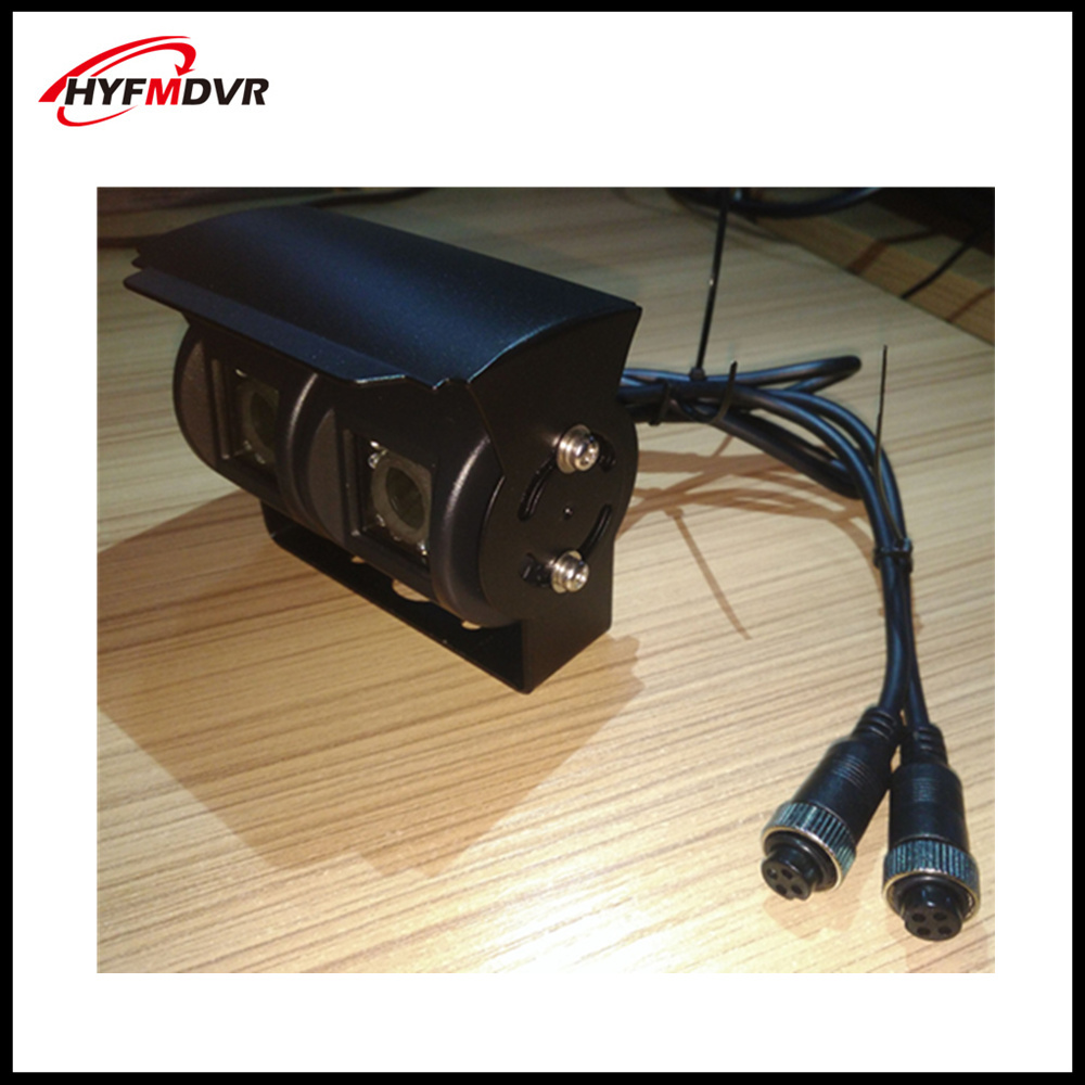 Cmos420tvl/800tvl CCTV infrared night vision metal dual lens camera 960p truck rear view waterproof probe support SONY 600TVL