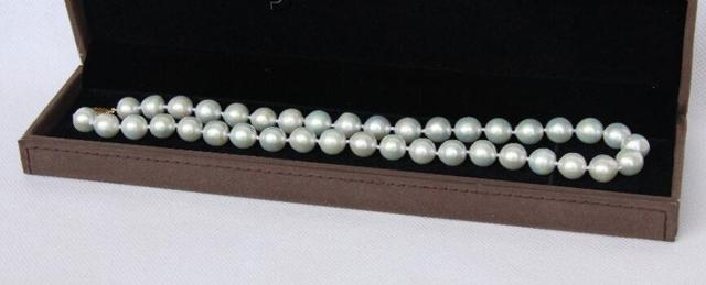 Venda Hot new Style >>>>> SUPER BRILHO BARROCO 11 MM BRANCO DO SUL SEA PEARL NECKLACE 14KGP j9531