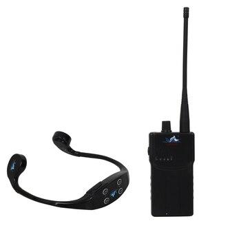 Wireless Transmitting Teaching Gadget with 1 Walkie Talkie+14 Bone Conduction Swimming Waterproof Mp3 Player Headphone Receiver