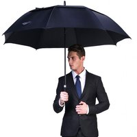 Large Golf Umbrella Strong Windproof Semi Automatic Long Umbrella Oversize Outdoor Man And Women's Business Umbrellas