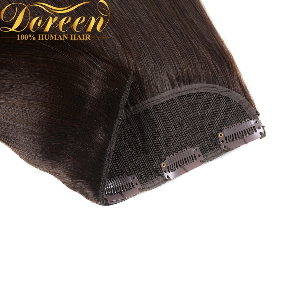 Doreen Brasilianischen Maschine Gemacht Remy Natürliche Menschliches Haar Ein Stück Clip in Extensions Haarteile 16 zoll zu 24 zoll 120g 5 Clips