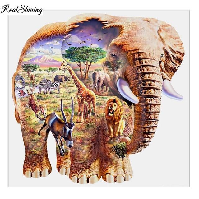 Вышивка крестом слон купить