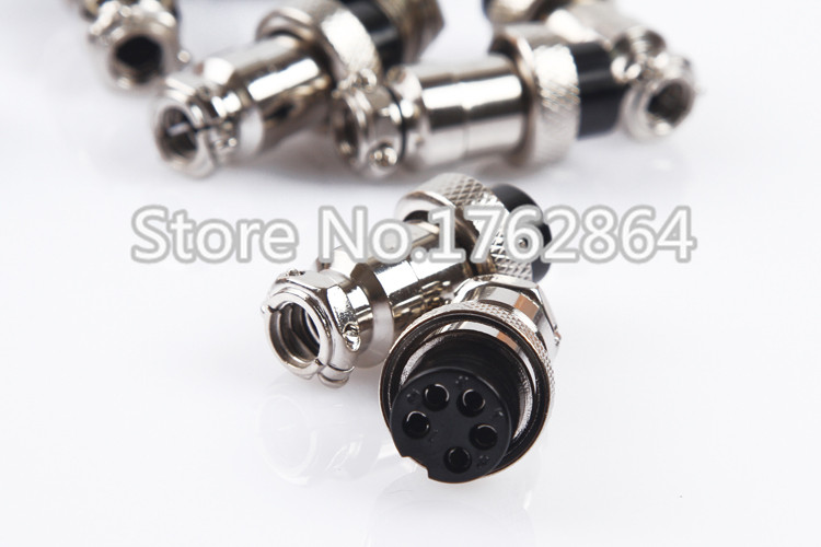 6 PIN 16mm GX16 6 Screw Aviation Connector Plug The aviation plug Cable connector Regular plug and socket in Connectors from Lights Lighting