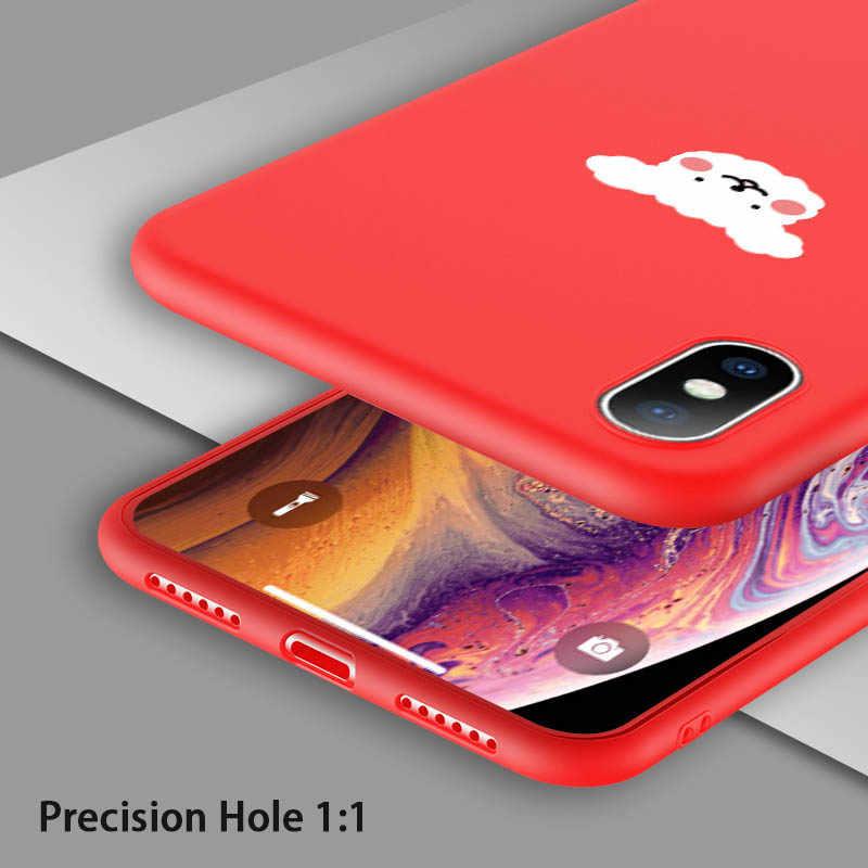 Caixa Do Telefone Para o iphone X XS XR Xs USLION Max 6 6 s 7 8 Plus 5 5S SE Engraçado animal dos desenhos animados Suave TPU Simples Casais Carta Tampa Traseira
