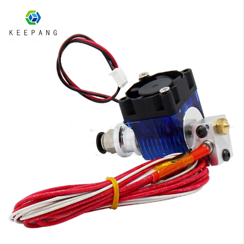 V5 V6 J-head Hotend Extruder Kit 3D Printers Part Cooling Fan Bracket Block Thermistors Nozzle 0.4mm 1.75mm Filament Bowden