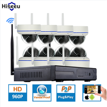 Hiseeu 8CH Wireless CCTV System for 8PCS 960P Dome Cameras 3TB HDD Option wifi IP Camera  NVR CCTV Camera Home Security System