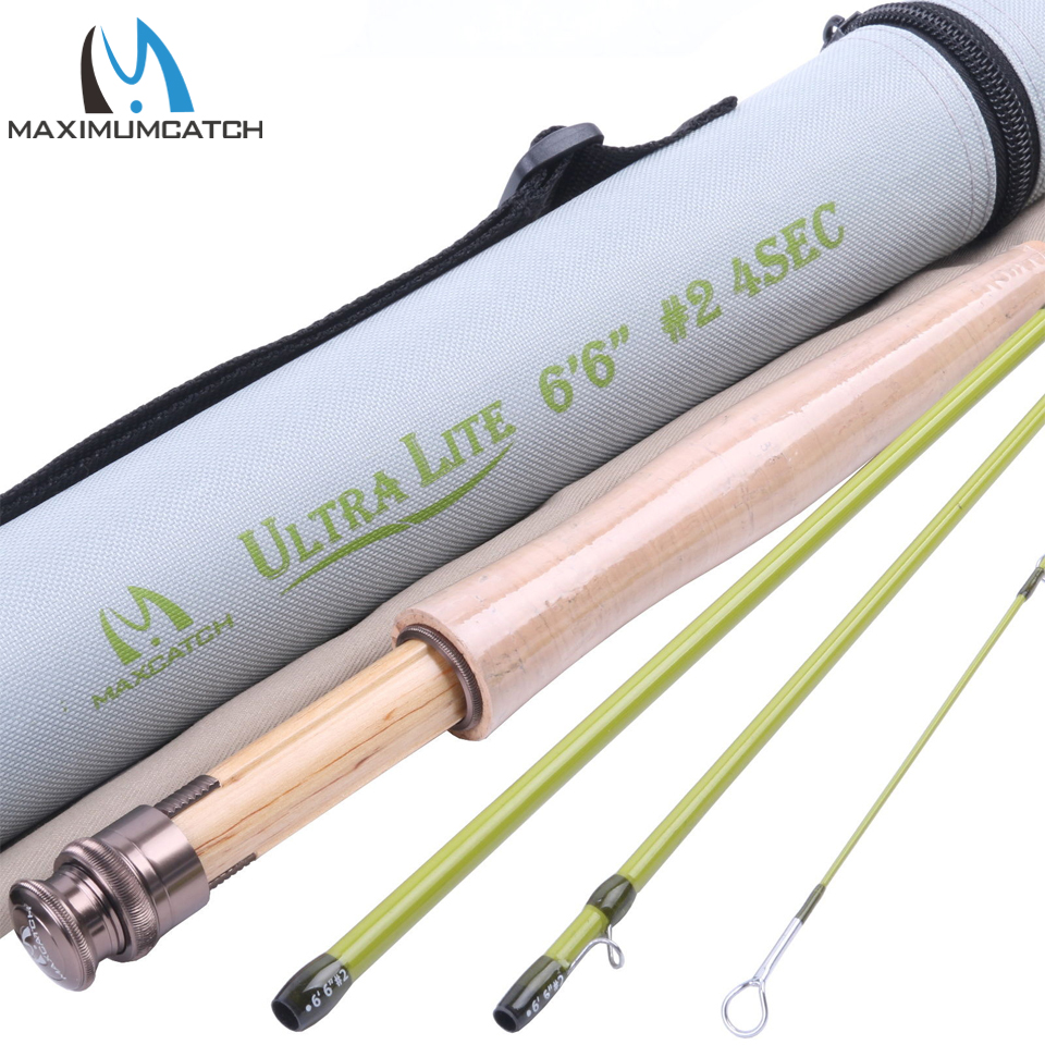 Maximumcatch High Quality SK Carbon Fly Fishing Rod 6'6''FT 2WT Medium Fast Action With Cordura Tube Super Light Fly Rod maximumcatch super light fly fishing rod 6 6ft 2wt 4pcs fast action carbon fly rod