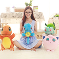 1Pcs 50cm Pikachu Charizard and 30cm Squirtle Plush toy figures Toys Soft Stuffed Anime Cartoon Dolls kawaii kids toys Gifts