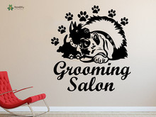 YOYOYU Wall Decal Vinyl Muurstickers Home sticker Petshop Grooming Salon Dog Animals Removeable Art Decoration YO272
