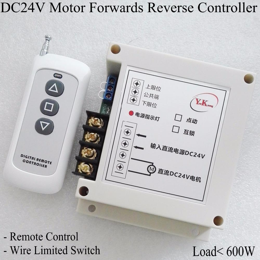 HTB136wJSFXXXXaWXXXXq6xXFXXXI - DC 24V 40A 2CH Motor Remote Control Switch Motor Forwards Reverse Up Down Stop Door Window Curtain Wireless TX RX Limited Switch