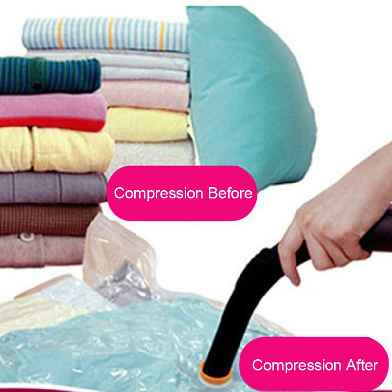 1pc Vacuum Storage Bag Folding Compressed Clothing Organizador 50*60/60*80/70*100/80*110 Clothe Rolling Organizer Bags image