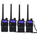 4 Unids baofeng uv 5r walkie talkie portátil radio de dos vías handheld pofung uv-5r pantalla dual dual bang 1800 mAh batería