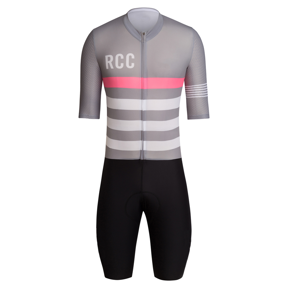 RCC Race Cycling Club PRO TEAM AERO CYCLING SKINSUIT Triathlon suit Best Quality BICYCLE short set KIT WITH High density PAD