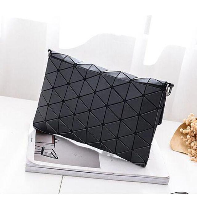 Women's Matte Geometric Flap Bag