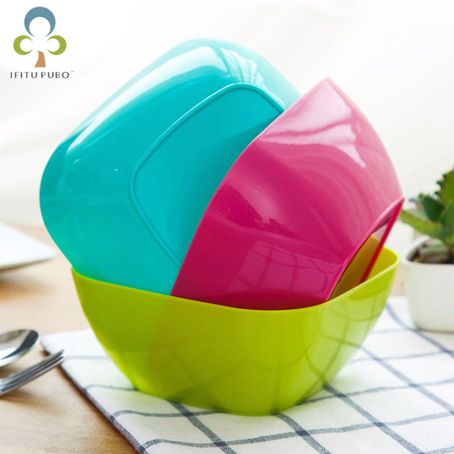 Charmant 1PC Kitchen Supplies Modern Colorful Plastic Fruit Plate Home Decor Eco  Friendly Square Dish Plates