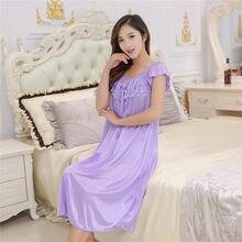 f64e20f5f2 Popular Silky Satin Nightgowns-Buy Cheap Silky Satin Nightgowns lots from  China Silky Satin Nightgowns suppliers on Aliexpress.com