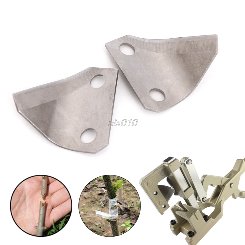 1Pair Replacement J68A Steel Fruit Grafting Blades Machine Pruning Cutting Tool S02 Drop ship