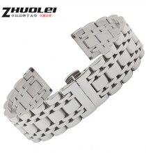 Часы аксессуары новых людей высокое качество металла часы ремень браслеты Depolyment часы пряжка 16 мм 19 мм 20 мм
