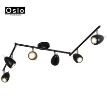 LED Track Light Clothing Shop Windows Showrooms Exhibition Spotlight COB LED Ceiling Rail Spot Lamp Traditional Collection Light(China)