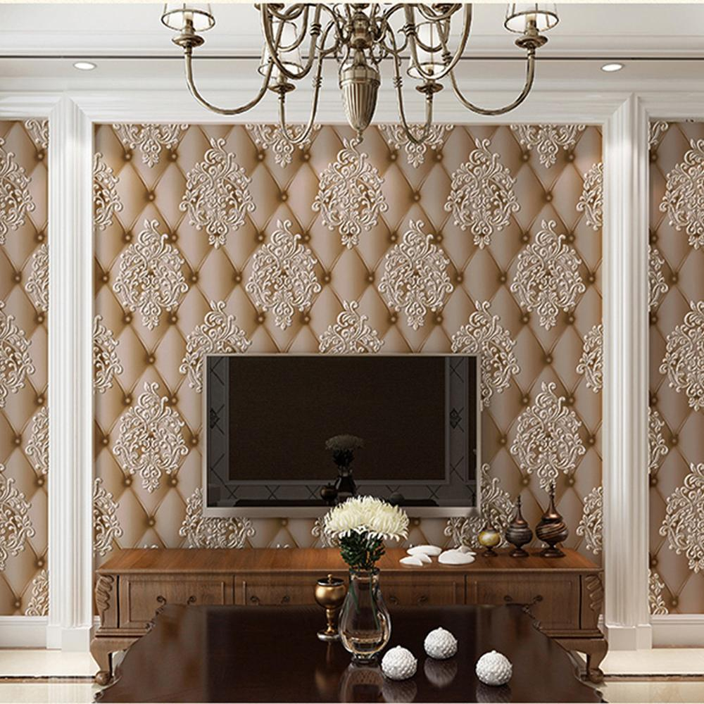 Luxury Faux Paper Papel De Pa Imation Leather 3D Wallpaper For Wall Living Room Bedroom Wall Paper Roll Background Wallcoverings