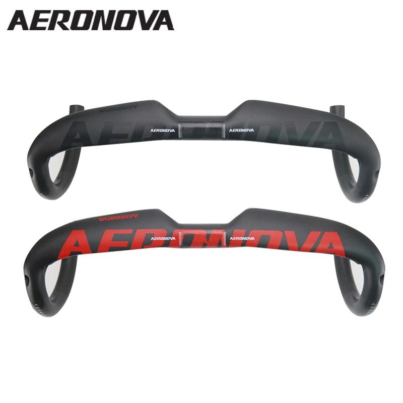 AERONOVA Bent Bar Carbon Road Handlebar 3K Full Carbon Fiber Highway Bicycle Bike Handlebars 400 420
