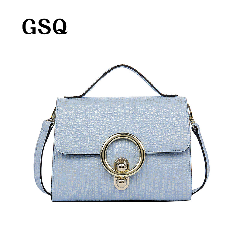 ФОТО GSQ Fashion Genuine Leather Women Messenger Bag Women Handbag Sequined Hasp Hot Luxury Famous Brand High Quality Lady Bags