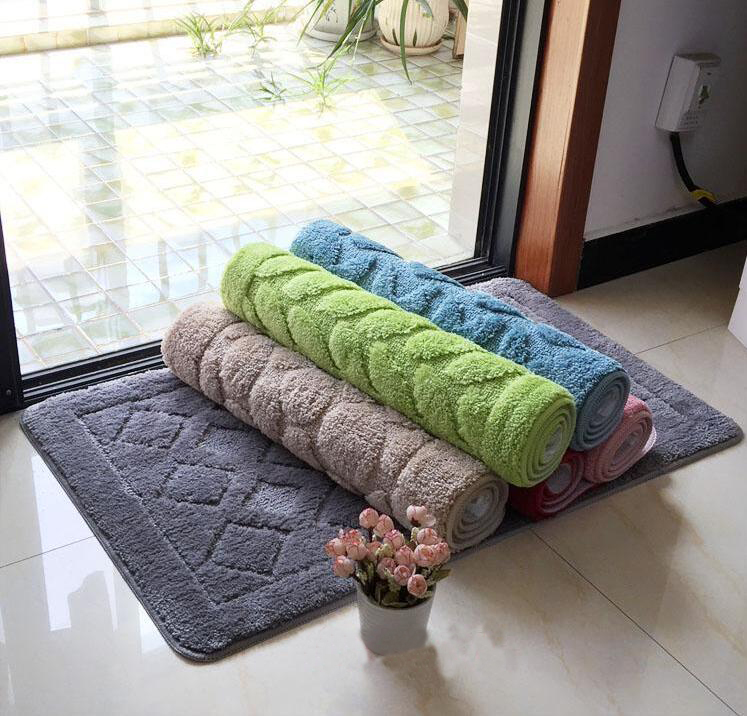 Fyjafon Floor Mat For Living Rooms Thick Entrance Mat Door Mat Outdoor Anti-slip Soft Floor Rug 40*60/50*80/60*90 image