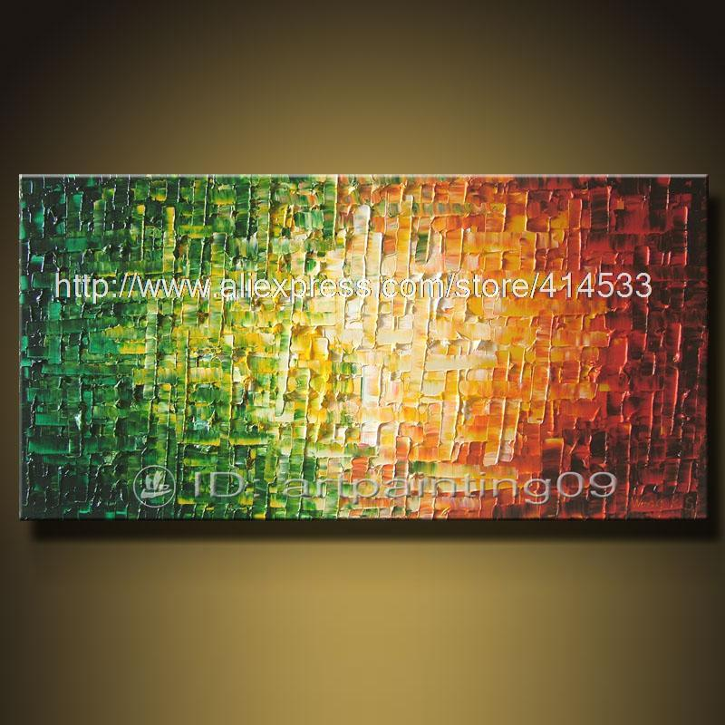 Contemporary abstract landscape palette knife art deco oil paintings ...