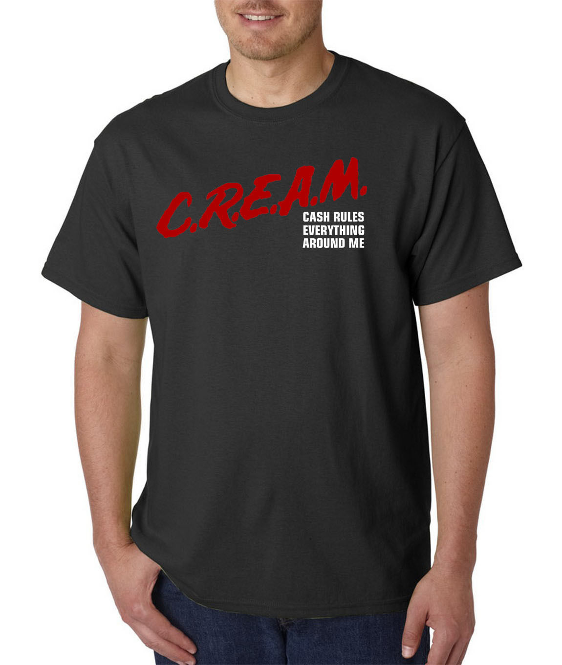 C.R.E.A.M. Dare Parody T-Shirt - Cash Rules Everything Around Me Hip Hop Rap Tee T Shirt Men Black Short Sleeve Cotton Hip Hop