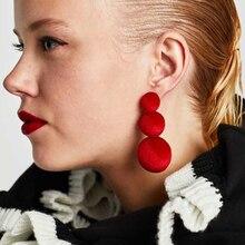 New Fashion Plush Ball Tassel Drop Earrings for Women Bohemia Style Velvet Round Long Dangle Earrings Party Wedding Jewelry