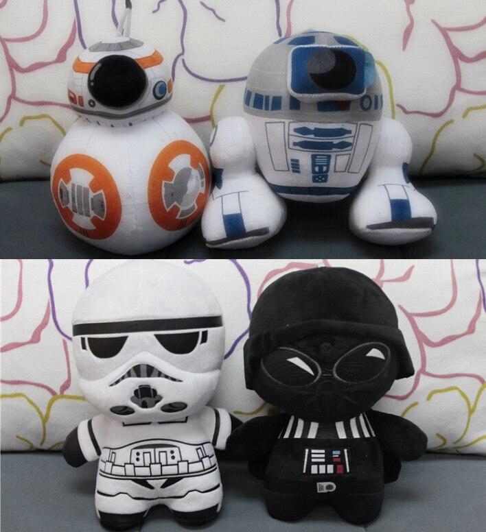 Звездные войны 7 плюшевые игрушки набор 2016 Новинка силы пробудить BB-8  Droid робот R2D2 Дарт вейдор Штурмовик вещи игрушки куклы малыш ffc6e9287c9