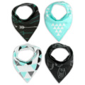 16 styles 4pcs/lot ins burp baby bibs saliva towel Arrow animal cartoon cloths triangle cotton bandana accessories