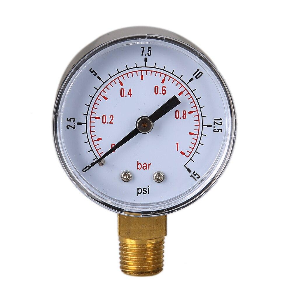 50mm 0 15 psi 0 1 bar 1 4 bspt pressure gauge fuel air compressor meter hydraulic pressure. Black Bedroom Furniture Sets. Home Design Ideas