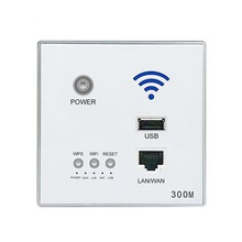 Type 86 Embedded Router 300Mbps 220VAP Hotel Relay Smart Wireless WIFI 300M Wall 2.4Ghz Panel USB Socket Rj45