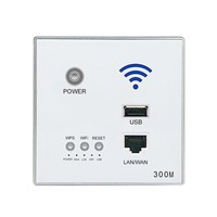 Type 86 Embedded Router 300Mbps 220VAP Hotel Relay Smart Wireless WIFI 300M Wall Embedded 2.4Ghz Router Panel USB Socket Rj45