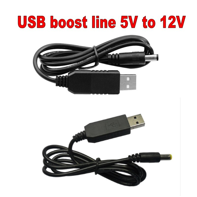 USB Power Boost Line DC 5V To DC 12V Step UP Module USB Converter Adapter Cable 2.1x5.5mm Plug