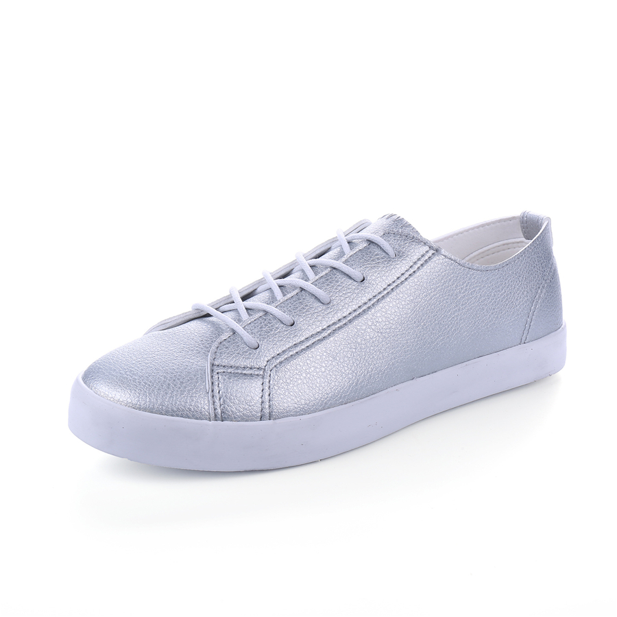 Spring Women PU Leather Shoes Casual Solid Color Lace Up Colourful Shoes Breathable Platform Flat Slip On S 2016 new vintage women casual shoes fashion good pu leather breathable lace up low platform women shoes xwc344