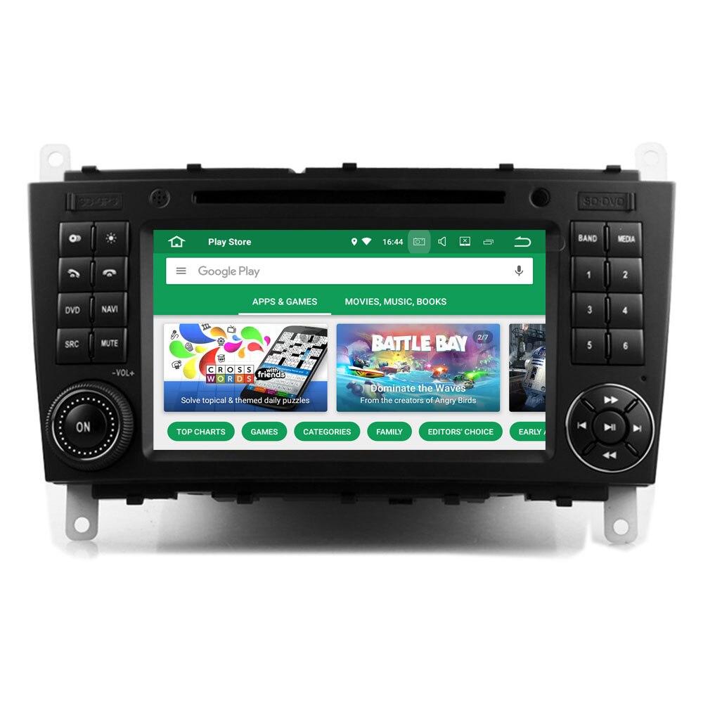 RoverOne Android 8.0 Octa Core autoradio DVD GPS pour Mercedes pour Benz W203 W209 W219 écran tactile lecteur multimédia unité de tête
