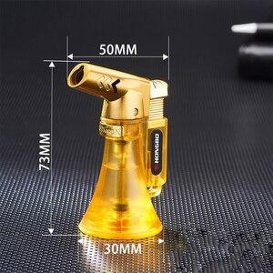 Image 5 - Зажигалка для труб, распылитель, компактная Бутановая струйная Зажигалка для сигар, турбо зажигалка 1300 с, ветрозащитная металлическая струйная Зажигалка без газа