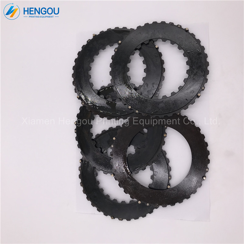 1 Set=9 Pieces Heidelberg Offset Printing GTO Brake for GTO52 Machine Brakes Outer Diameter 149mm 1 set heidelberg gto pushing paper regulation