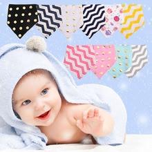 Детские хлопок нагрудники треугольник полотенце для повязки на голову и шарфа для младенцев теплее и протектора